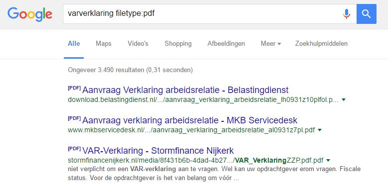 google-bestandstype-zoeken