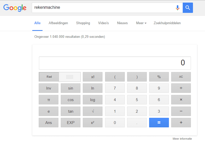 Google-rekenmachine