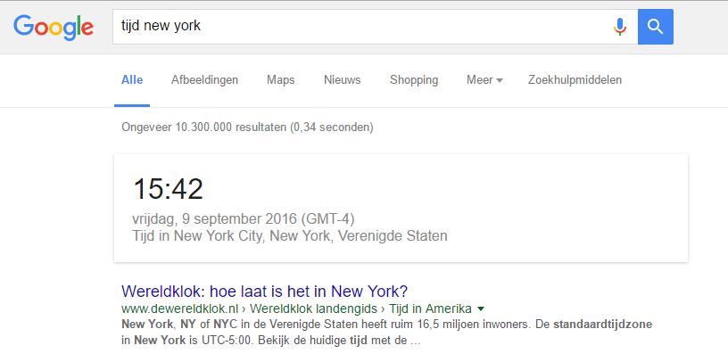 google-tijd