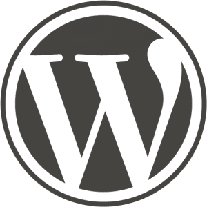 WordPress logo zwart-wit