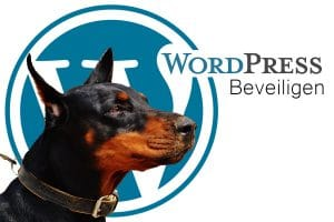 doberman met wordpress logo
