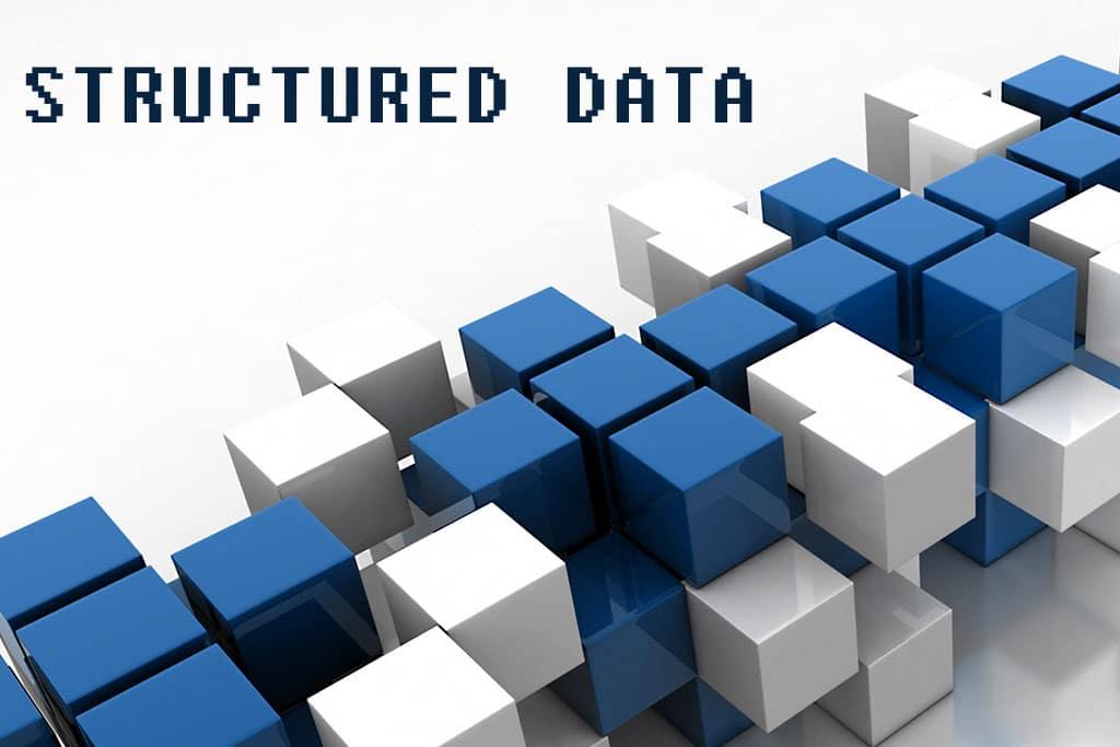 Rijen met blokken en structured data titel